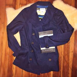 St. John's Bay Women's Rain Jacket Size L Blue